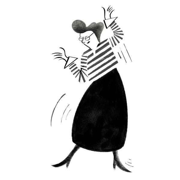 Illustration av dansande kvinna